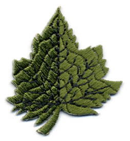 "1+3/4"" Leaf Applique-Green/Forest Combo"