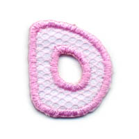 "1+1/4"" Letter ""D""-Pink/White Combo"