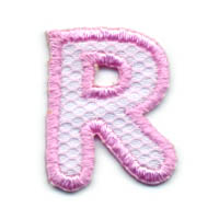 "1+1/4"" Letter ""R""-Pink/White Combo"