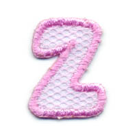 "1+1/4"" Letter ""Z""-Pink/White Combo"