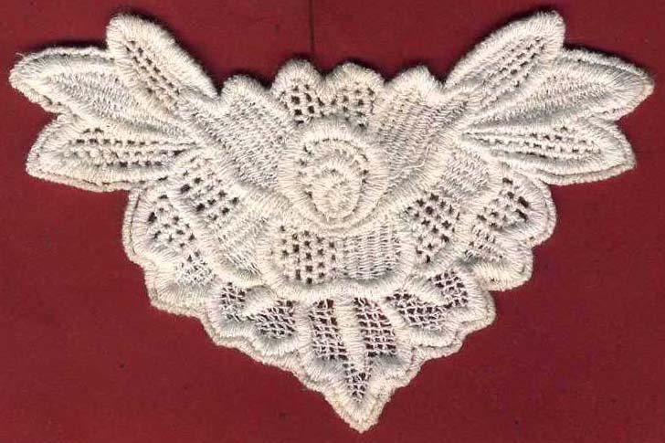 Cotton Venise Flower Applique-Natural