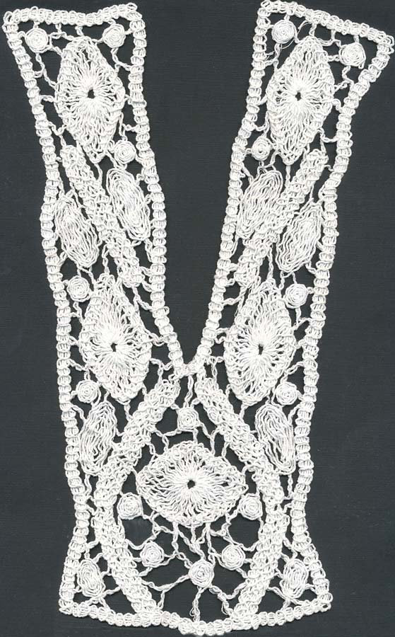 "10"" Cotton Venise Lace Collar-Raw White"