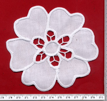 "6"" Battenburg Flower-White"