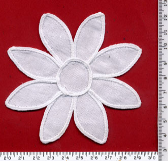 "4"" Battenburg Flower-White"