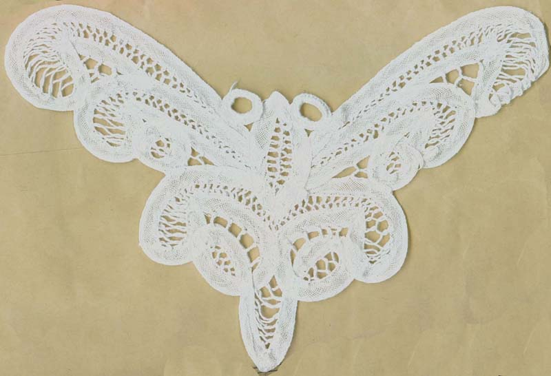 "10"" Battenburg Butterfly Applique-White"