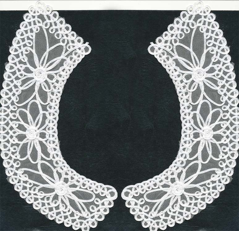 "10.5"" Re-Embroidered 2-Piece Collar-White"