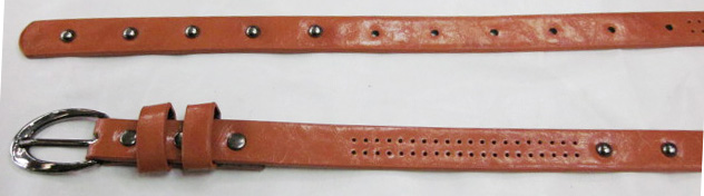 Faux Leather Belt With Nailheads-V-1352-B1020