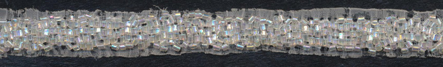 "1/2"" Beaded Band-Clear Iris"
