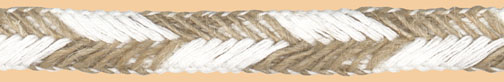 "1/2"" Cotton/Jute Braid-White/Jute Combo<br>see Special Pricing Tab"