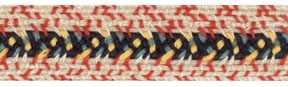 "3/4"" Cotton Braid-Khaki With Black/Rust/Gold Stitching<br>see Special Pricing Tab"