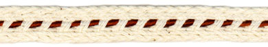 "1/2"" Cotton Braid-Natural With Rust Center<br>see Special Pricing Tab"