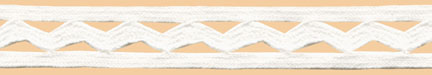 "1/2"" Cotton Ric Rac With Middy Braid-White<br>see Special Pricing Tab"