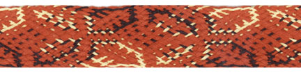 "3/4"" Cotton Flat Lotus Braid-Rust/Black/Gold Combo<br>see Special Pricing Tab"