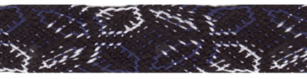 "3/4"" Cotton Flat Lotus Braid-Black/Royal/White Combo<br>see Special Pricing Tab"