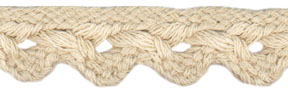 "3/4"" Cotton Cord Scallop Braid-Natural<br>see Special Pricing Tab"