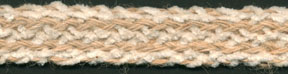 "<font color=""red"">IN STOCK</font><br>7/8"" Jute/Cotton Chenille Braid-Jute/Natural Combo"