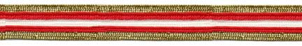 "11/16"" Metallic/Rayon Military Braid-Red/White/Gold Combo"