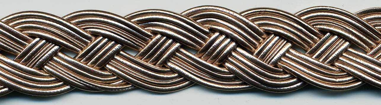 "1"" Metallic Braided Cords-Rose Gold"