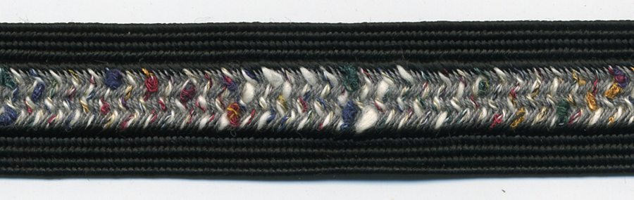 "3/4"" Wide Rayon/Cotton Fancy Weave Braid-Black Combo<br>see Special Pricing Tab"