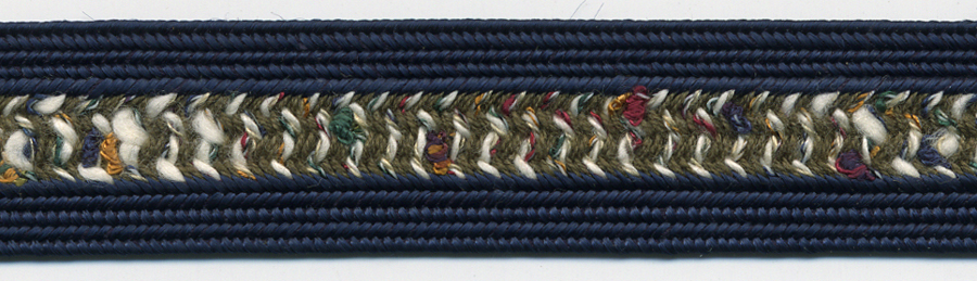 "3/4"" Wide Rayon/Cotton Fancy Weave Braid-Navy Combo<br>see Special Pricing Tab"