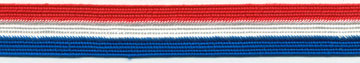"3/4"" Rayon Tristripe Braid-Red/White/Blue<br>see Special Pricing Tab"