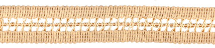 "1"" Cotton/Rayon Gimp Incert Braid-Natural<br>$0.05 per yard, see Special Pricing Tab"
