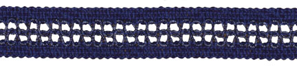"1"" Cotton/Rayon Incert Knit Braid-Indigo<br>$0.05 per yard, see Special Pricing Tab"