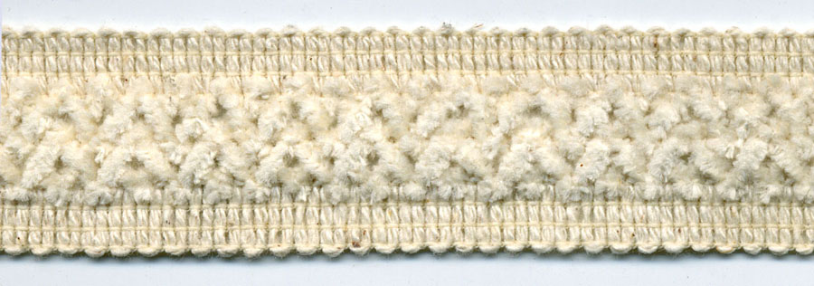 "1"" Cotton/Chenille Incert Knit Braid-Natural Combo<br>$0.05 per yard, see Special Pricing Tab"
