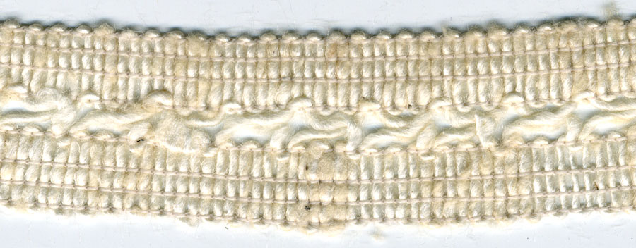 "1+3/8"" Cotton/Rayon X Cord Knit Braid-Natural<br>$0.05 per yard, see Special Pricing Tab"