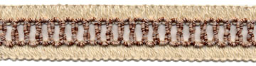 "1+1/8"" Cotton Knit Braid Inside Loops-Natural/Rust<br>$0.05 per yard, see Special Pricing Tab"