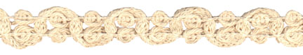 "1"" Cotton Knit Braid-Natural<br>$0.05 per yard, see Special Pricing Tab"