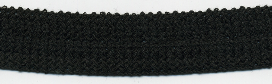 "1"" Cotton Knit Braid-Black<br>see Special Pricing Tab"