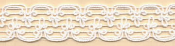 "1"" Macrame Cord Knit Braid-White<br>$0.05 per yard, see Special Pricing Tab"