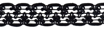 "1"" Macrame Cord Knit Braid-Black<br>$0.05 per yard, see Special Pricing Tab"