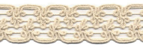 "1"" Macrame Cord Knit Braid-Natural<br>$0.05 per yard, see Special Pricing Tab"