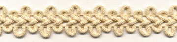"1"" Cotton Loop Knit Braid-Natural<br>$0.05 per yard, see Special Pricing Tab"