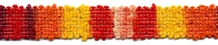 "$0.05 per meter, see Special Pricing Tab - 9/16"" Blocking Braid-Sunset"