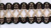 "1"" Jute/Chainette Knit-Jute/Black Combo<br>see Special Pricing Tab"