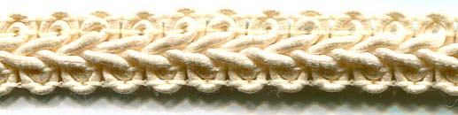 "1/2"" Wet Look Chinese Braid-Ivory"