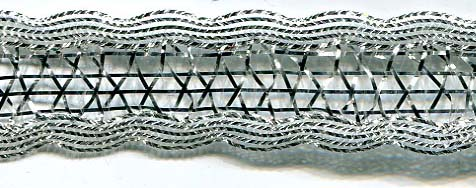 "11/16"" Metallic Open Weave Knit-Silver Combo<br>$0.05 per yard, see Special Pricing Tab"