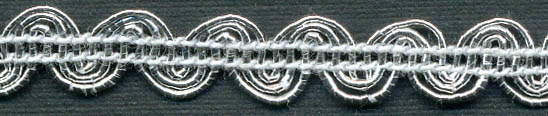 "1/4"" Metallic Scroll Braid-Silver"