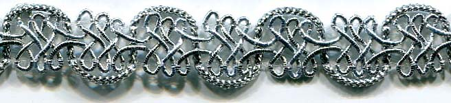 "1/2"" Figure 8 U Loop Braid-Silver"