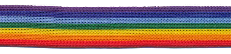 "5/8"" Intrepid 7 Color Rainbow-Red/Orange/Yellow/Green/Blue/Navy/Purple<br>$0.04 per yard, see Special Pricing Tab"