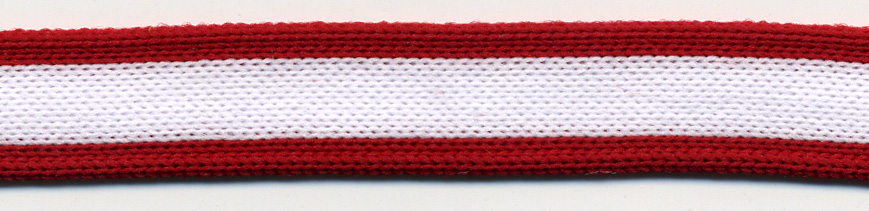"1/2"" Wide Knitted Braid-Red/White/Red Combo<br>see Special Pricing Tab"