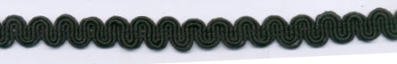 "9/16"" Rayon Knit Scroll Braid-Black<br>see Special Pricing Tab"