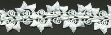 "1+1/4"" Wide Poly Gimp Bell Braid-Optical White<br>see Special Pricing Tab"