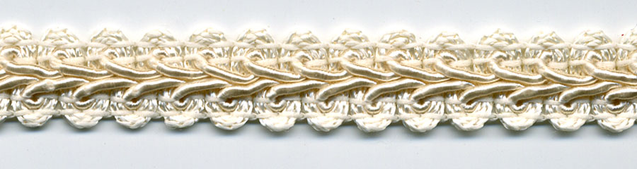 "1/2"" Wide Rayon Chinese Braid-Natural on Natural"