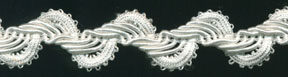 "1"" Rayon/Gimp Knit Braid-White<br>see Special Pricing Tab"