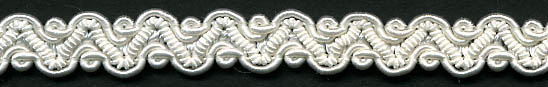 "3/8"" Wide Rayon Gimp Knit Braid-White<br>see Special Pricing Tab"