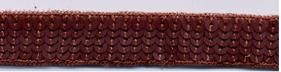 "1"" Wide ""6 Row Round"" Sequin Braid-Matter Bronze<br>$0.12 per yard, see Special Pricing Tab"